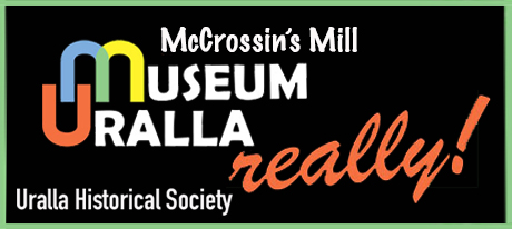 Logo for McCrossin's Mill Museum, Gallery and Function Centre